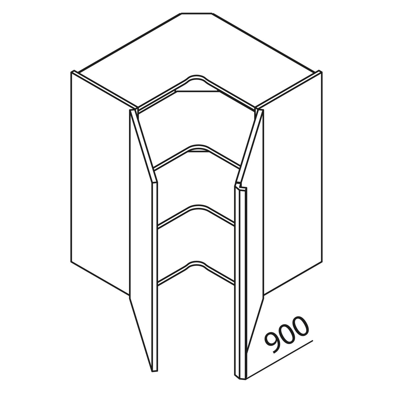 nolte k chen h ngeschrank eckschrank he65 90 r. Black Bedroom Furniture Sets. Home Design Ideas