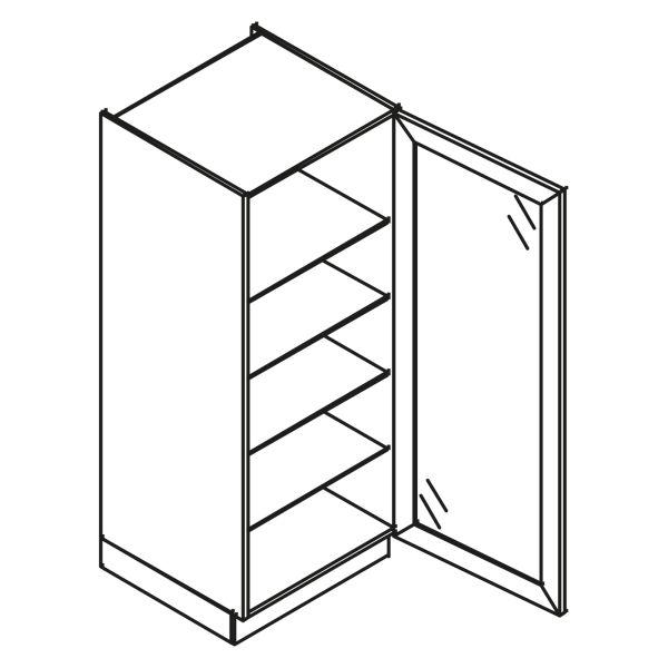 kitchenz k1 Glas Hochschrank VGN11-045-XB