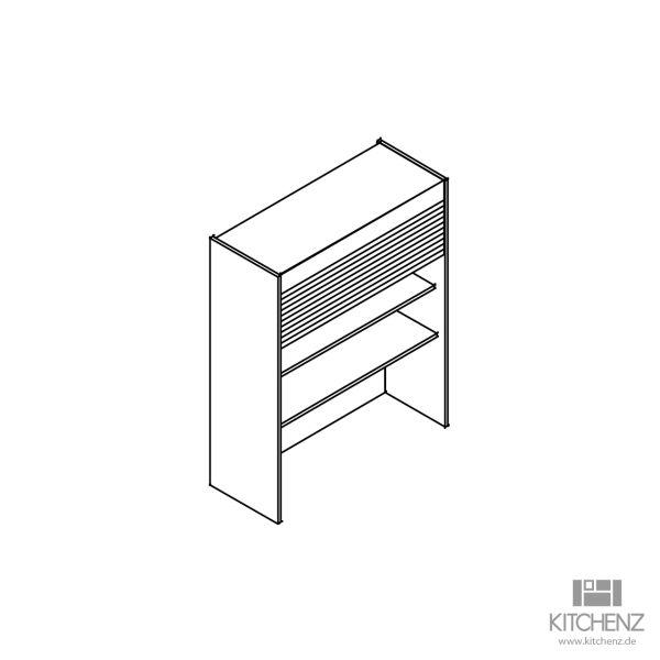 kitchenz k1 Jalousie Aufsatzschrank DAJ11-045