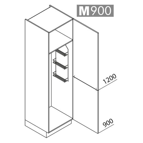 Nolte Küchen Hochschrank Besenschrank VB50-210-U9