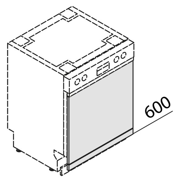 Türfront für Geschirrspüler GSB60-S7