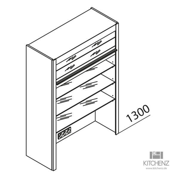 Aufsatzschrank mit Glasjalousie HAJV80-130-48