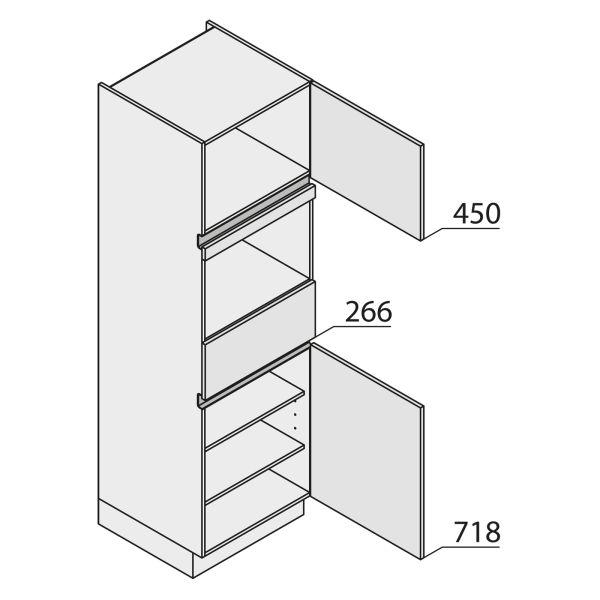 Nolte Küchen MatrixArt Geräte-Hochschrank für Backofen YGB195-1-G