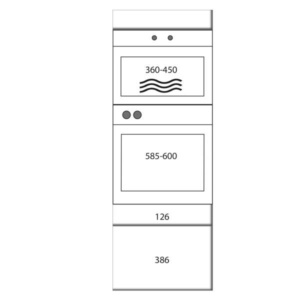 kitchenz k1 Geräteschrank GO13-MESZ