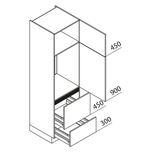 Nolte Küchen Hochschrank Geräteschrank GKAZ210-88