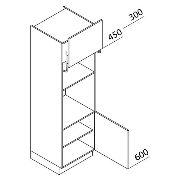 Nolte Küchen Hochschrank Geräteschrank GBL195-3