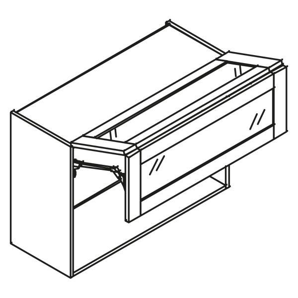 kitchenz k1 Glas Hängeschrank HGP5-100FL-GR