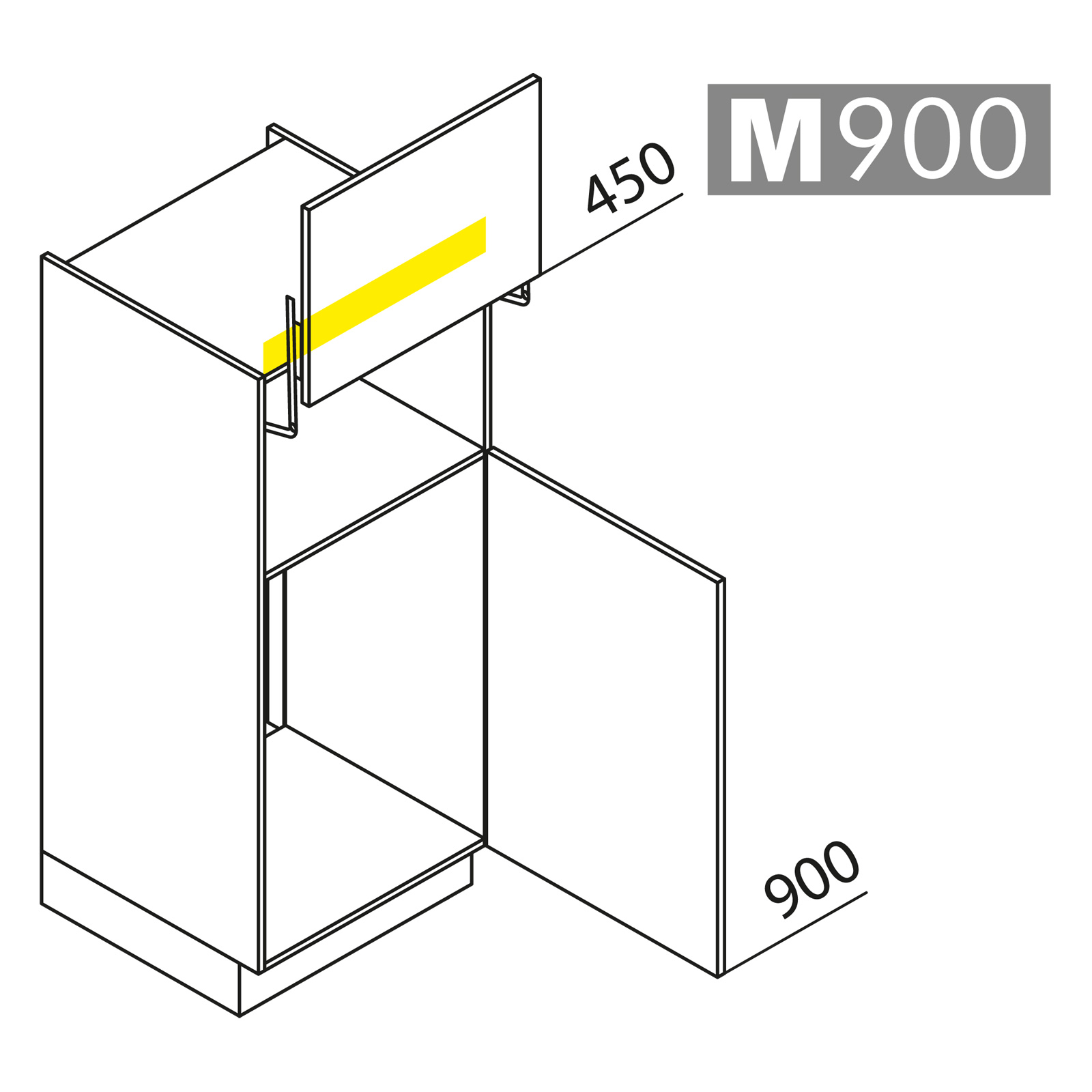nolte k chen hochschrank ger teschrank gkl135 88. Black Bedroom Furniture Sets. Home Design Ideas