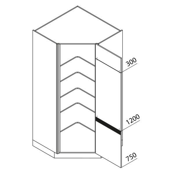 Nolte Küchen Hochschrank Eckschrank VED105-225