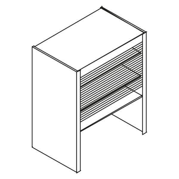 kitchenz k1 Glas Aufsatzschrank AJGL9-060-RA