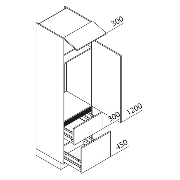 Nolte Küchen Hochschrank Geräteschrank GKZ225-103-09