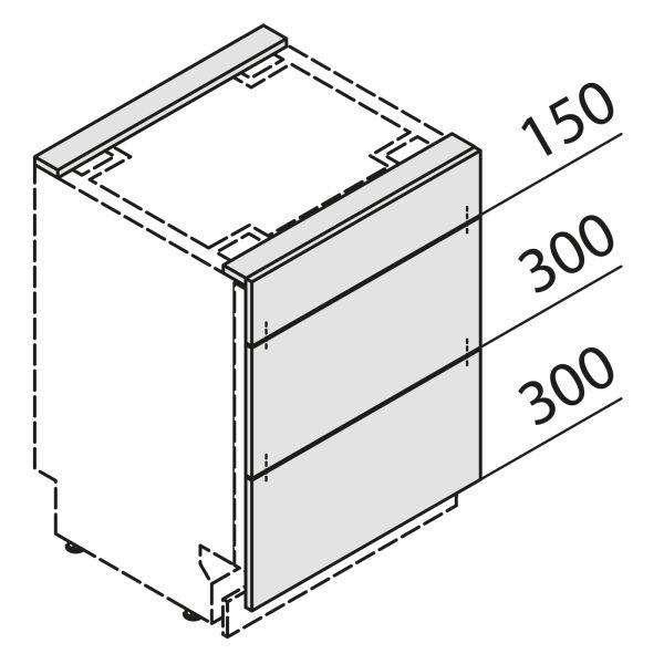 Türfront für Geschirrspüler GSBS45-01-UAK