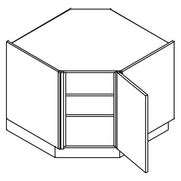kitchenz k1 Diagonalschrank DUED6-090