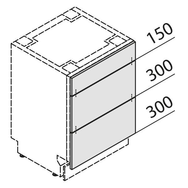 Türfront für Geschirrspüler GSBS45-UAK
