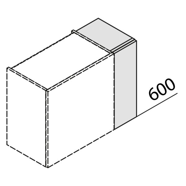 Nolte Küchen Hängeschrank Passstück Frontbezogen HP3-60