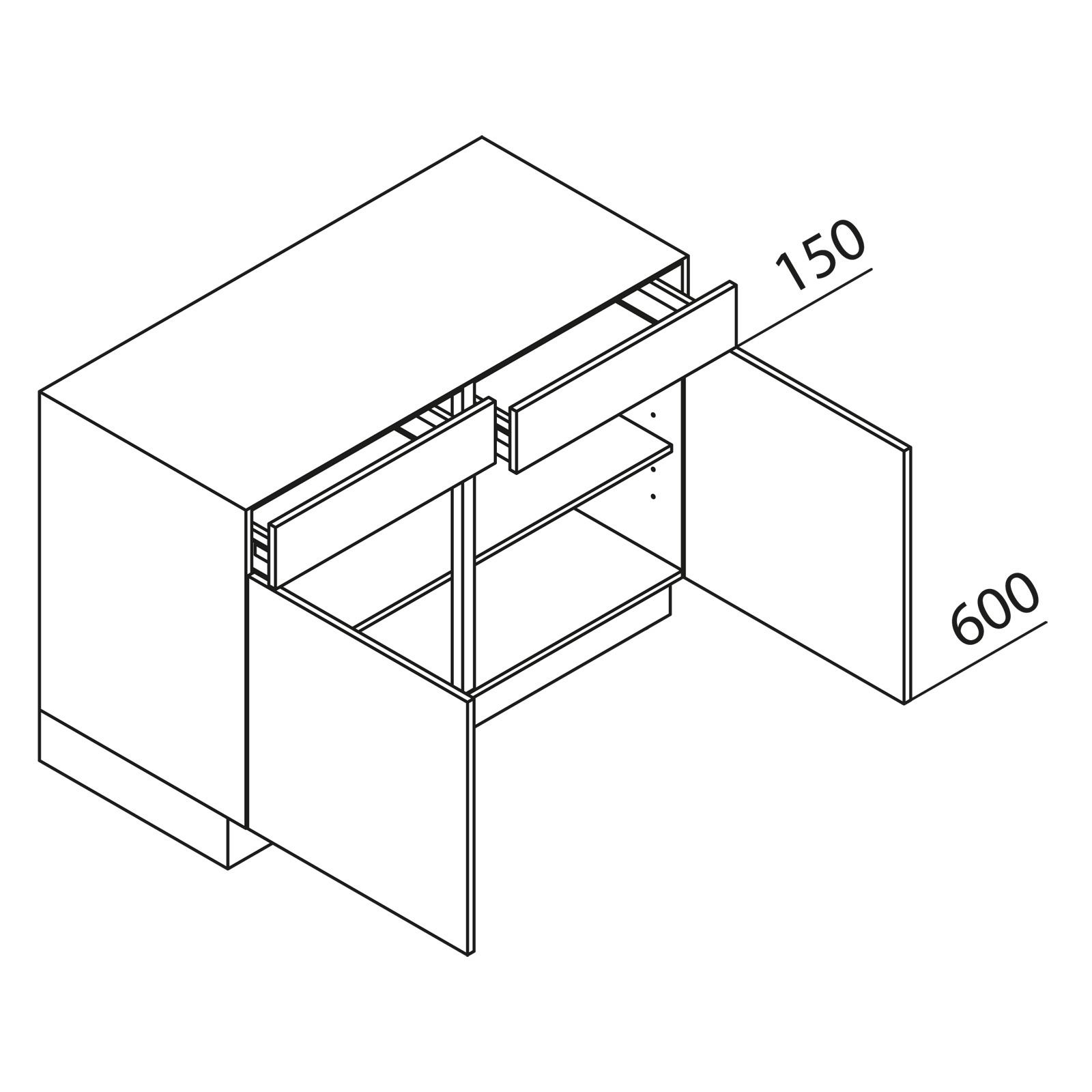 nolte k chen unterschrank u100 75 39. Black Bedroom Furniture Sets. Home Design Ideas