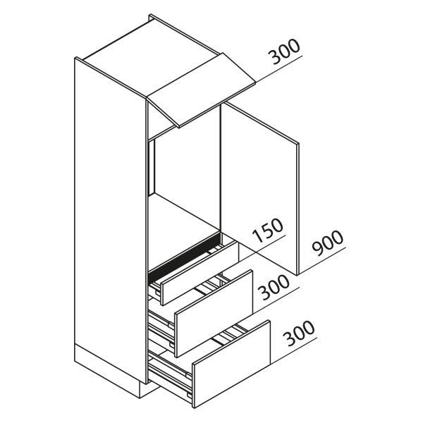 Nolte Küchen Hochschrank Geräteschrank GKAK195-88