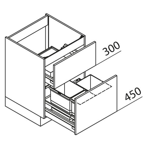 Nolte Küchen Unterschrank Spülenschrank mit Abfallsystem SUZ90