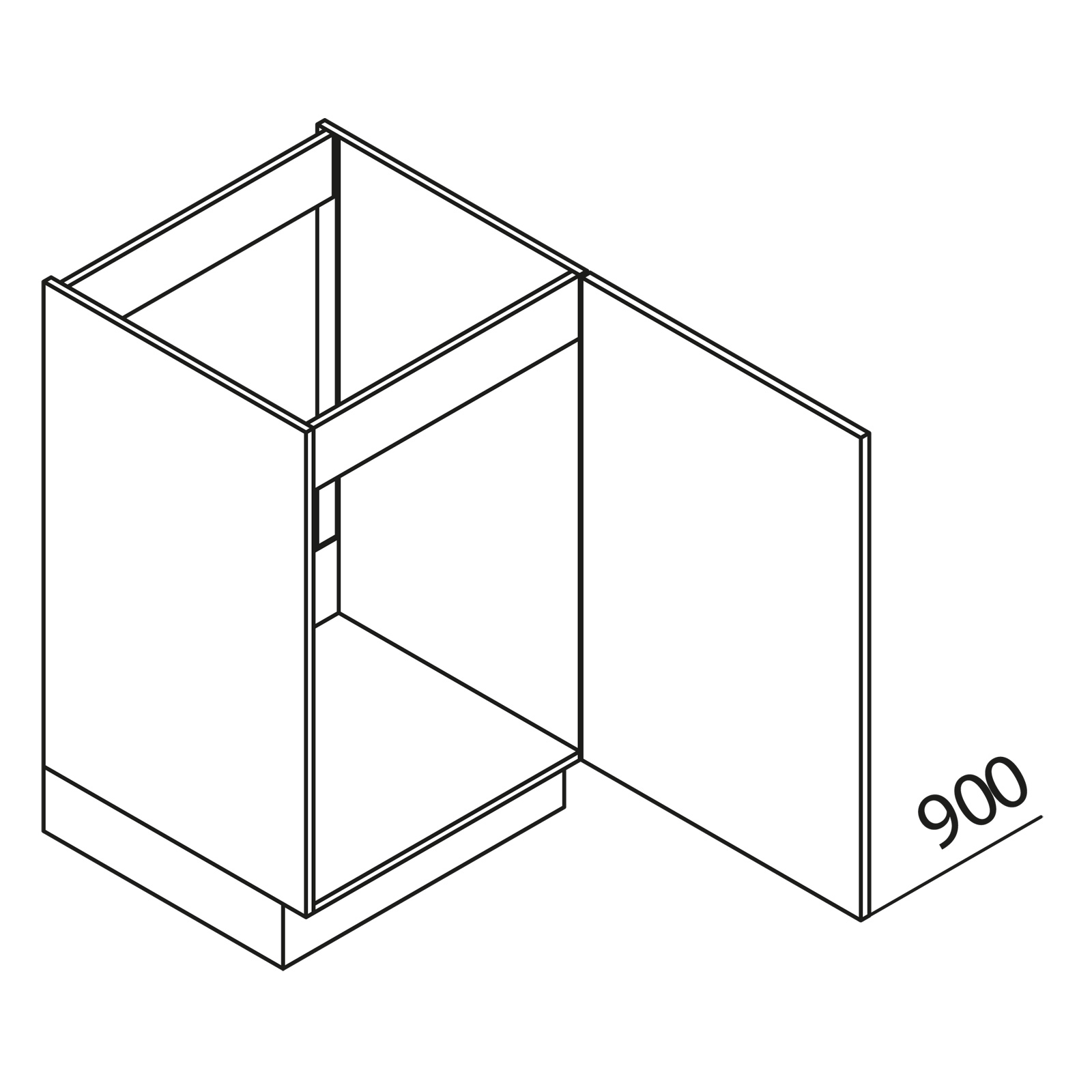 nolte k chen unterschrank sp lenschrank sod60 90 60. Black Bedroom Furniture Sets. Home Design Ideas