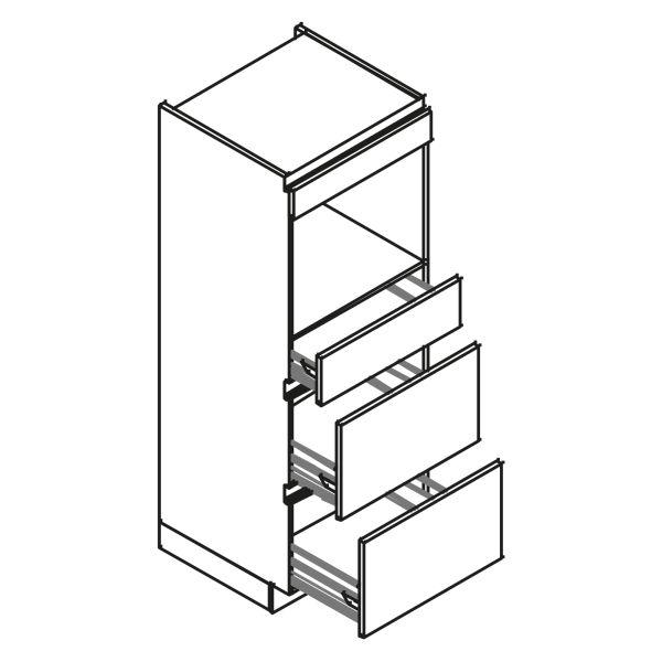 kitchenz k1 Geräteschrank AGO12-MSZ2