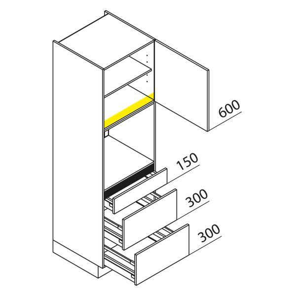 Nolte Küchen Hochschrank Geräteschrank GBAK195-3