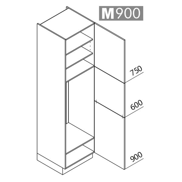 Nolte Küchen Hochschrank Geräteschrank GK225-123-01