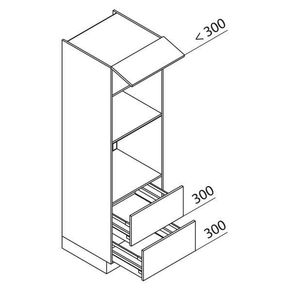 Nolte Küchen Hochschrank Geräteschrank GBBAZ195-3-4