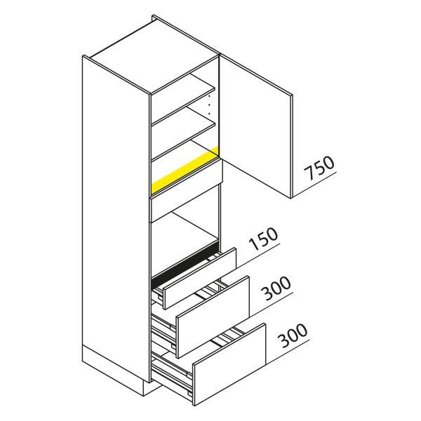 Nolte Küchen Hochschrank Geräteschrank GBAK210-2