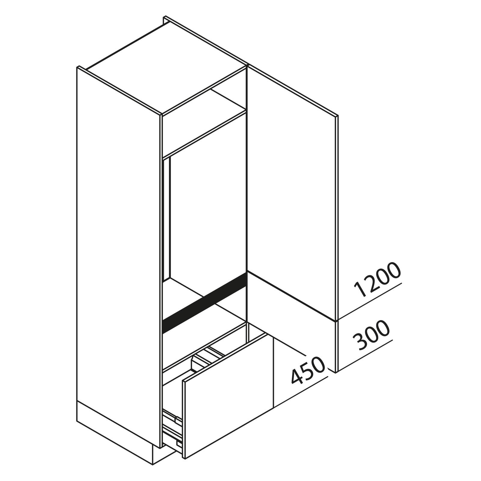 nolte k chen hochschrank ger teschrank gka195 123 08. Black Bedroom Furniture Sets. Home Design Ideas