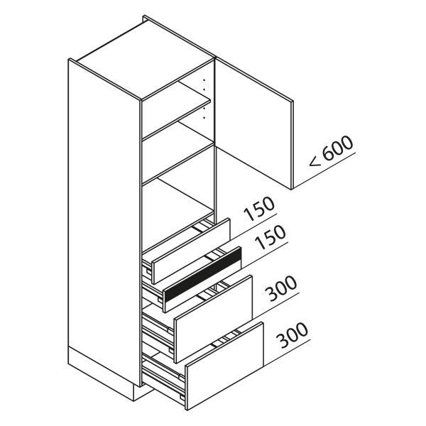 Nolte Küchen Hochschrank Geräteschrank GBAK195-4