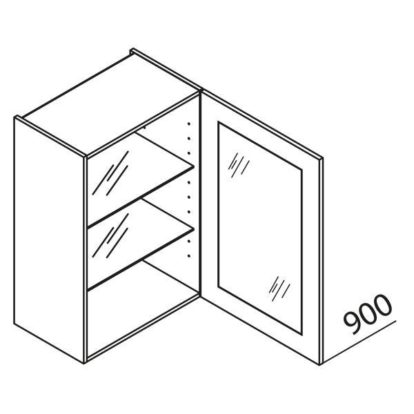nolte k chen glas h ngeschrank hv60 90 g nstig kaufen. Black Bedroom Furniture Sets. Home Design Ideas