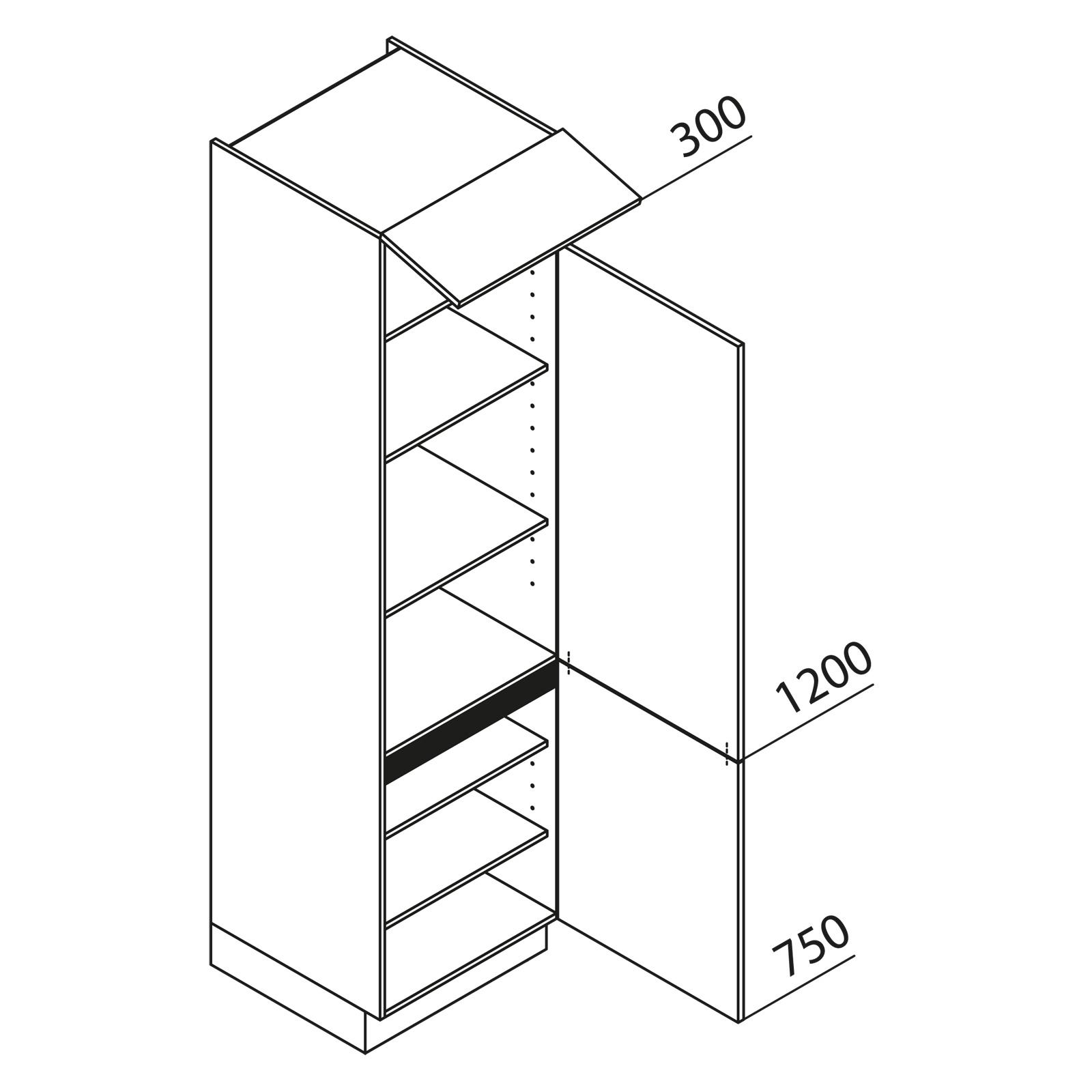 nolte k chen hochschrank v30 225. Black Bedroom Furniture Sets. Home Design Ideas