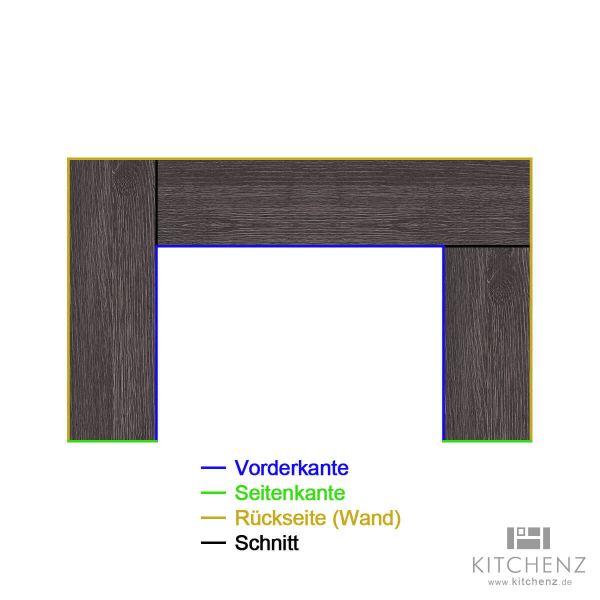 kitchenz k1 U-Arbeitsplatte AP-U4