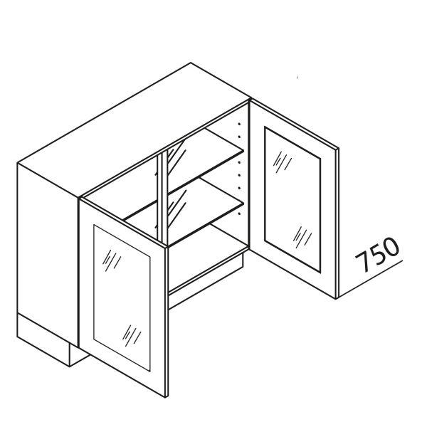 Nolte Küchen Unterschrank mit Glas UDDV90