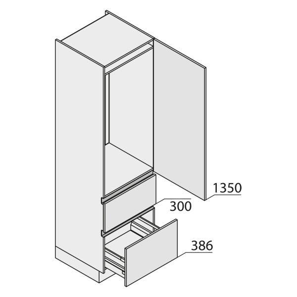 Nolte Küchen MatrixArt Geräte-Hochschrank für Kühlschrank YGKZ210-123