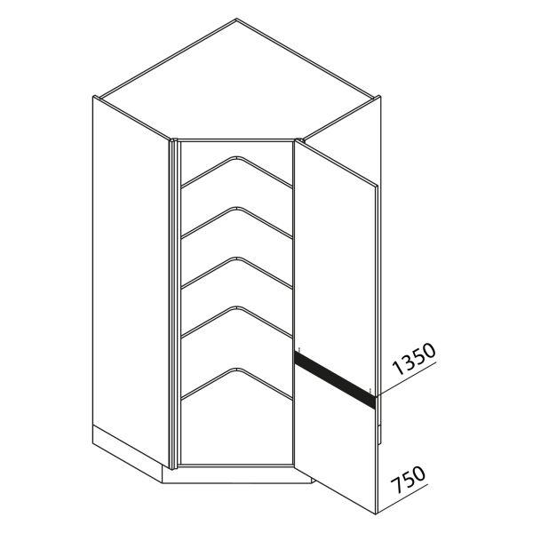 Nolte Küchen Hochschrank Eckschrank VED105-210