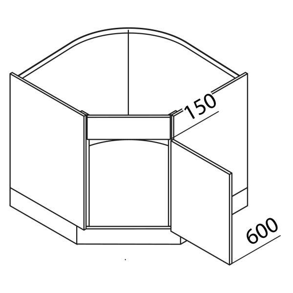 Nolte Küchen Unterschrank Eckspülenschrank UES90