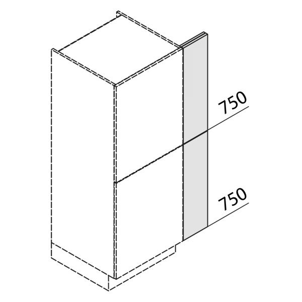 Nolte Küchen Hochschrank Passstück Frontbezogen SP3-150