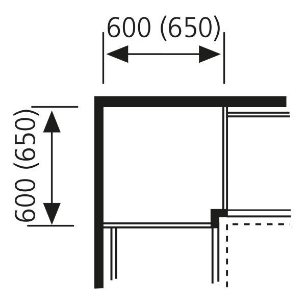 Nolte Küchen Hochschrank Eck-Passstück Frontbezogen SPE65-105