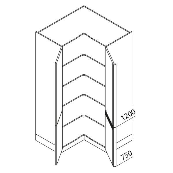 Nolte Küchen Hochschrank Eckschrank VE105-195