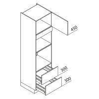Nolte Küchen Hochschrank Geräteschrank GBBAZ225-3-2