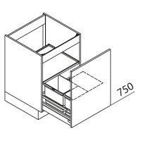 Unterschrank Spülenschrank mit Abfallsystem Nolte Küchen SABD45