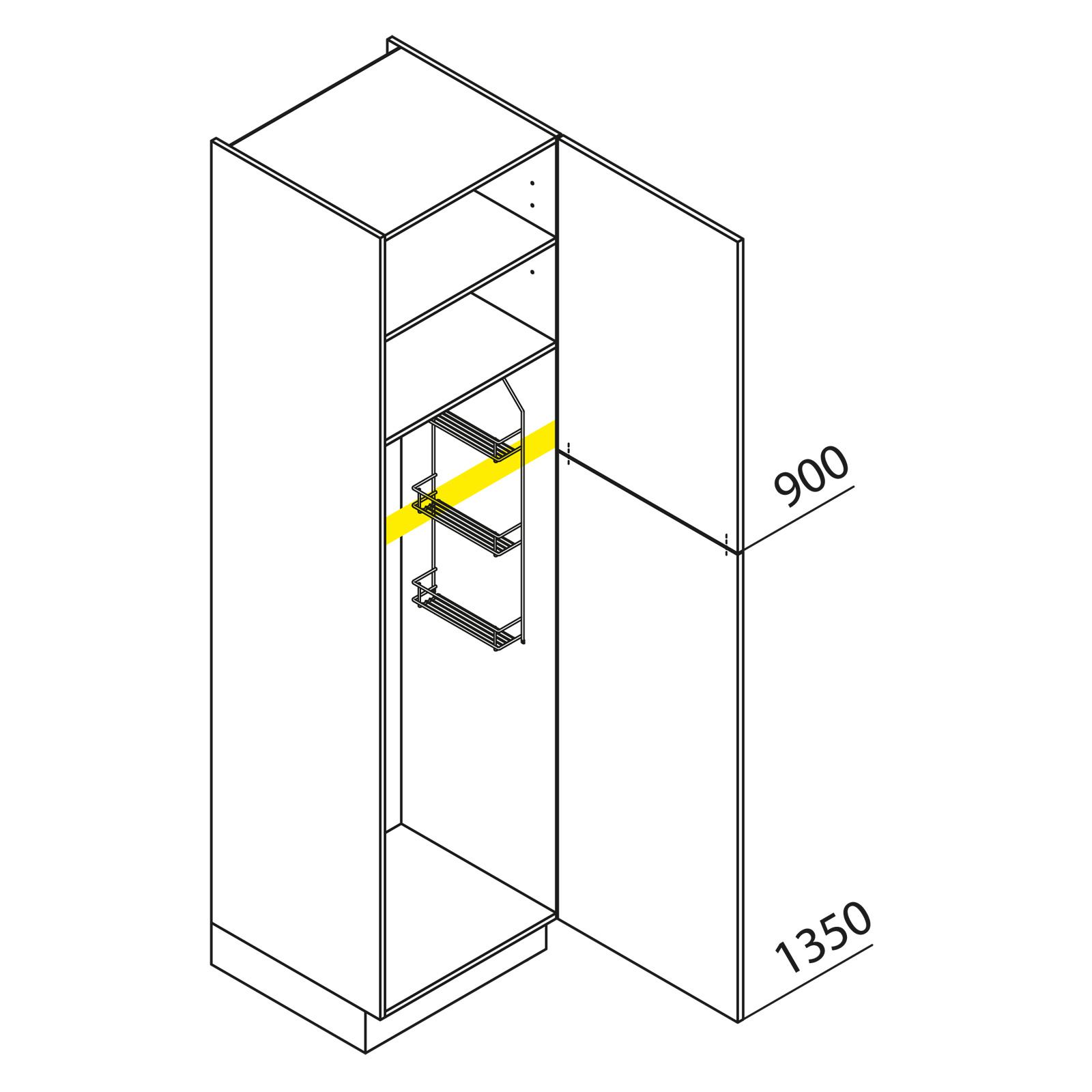 nolte k chen hochschrank besenschrank vb40 225 h. Black Bedroom Furniture Sets. Home Design Ideas