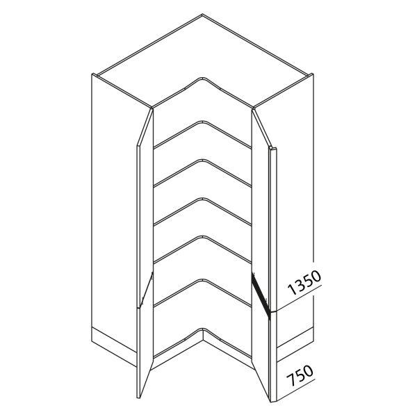 Nolte Küchen Hochschrank Eckschrank VE105-210