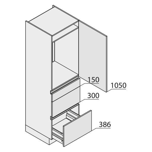 Nolte Küchen MatrixArt Geräte-Hochschrank für Kühlschrank YGKAS195-88-U9