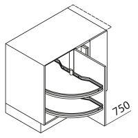 Nolte Küchen Unterschrank Eckschrank UEAD125-65-C