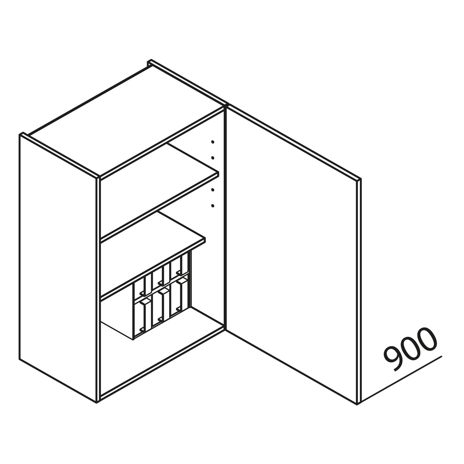 nolte k chen h ngeschrank gew rzschrank hg50 90. Black Bedroom Furniture Sets. Home Design Ideas