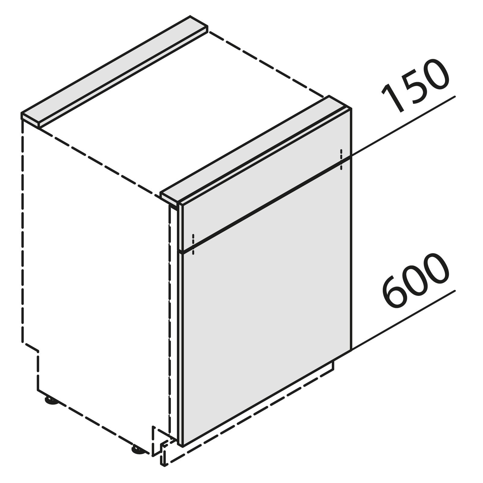 nolte k chen t rfront f r geschirrsp ler ksbs60 01. Black Bedroom Furniture Sets. Home Design Ideas