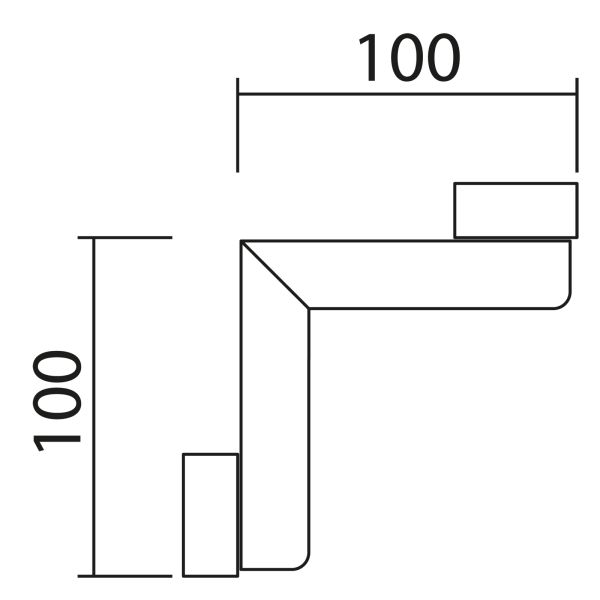 Nolte Küchen Hängeschrank Eck-Passstück Frontbezogen HPE65-45