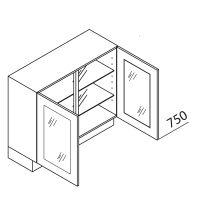 Nolte Küchen Unterschrank mit Glas UDDV80-75-39